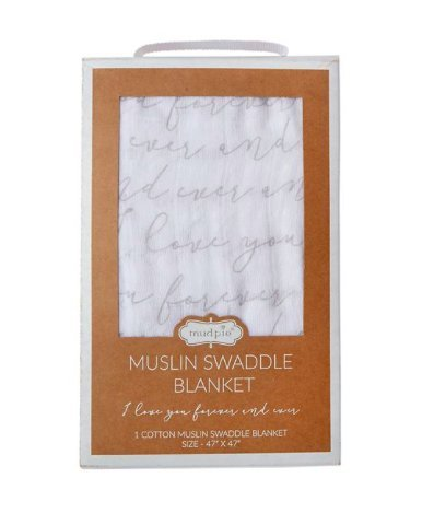 Mud Pie I Love You Boxed Swaddle Blanket