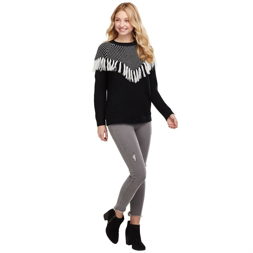 Mud Pie Liara Lurex Sweater -Black