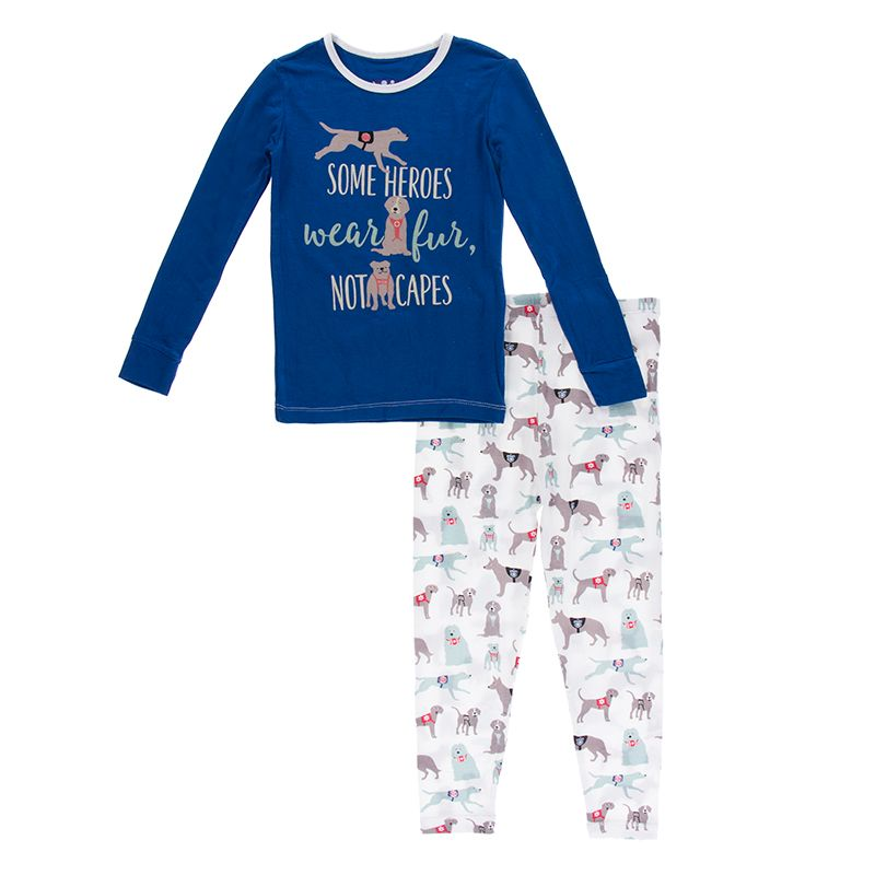 Kickee Pants - Everyday Heroes Collection - Pajama Set - Natural Canine First Responders