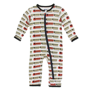 Kickee Pants - India Collection - Coverall with Zipper– Natural Indian Train