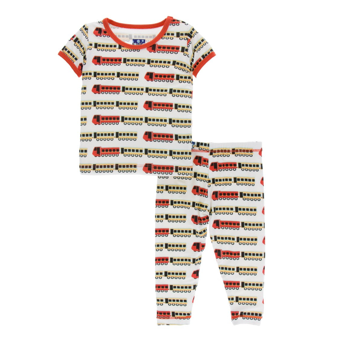 Kickee Pants - India Collection - Pajama Set – Natural Indian Train