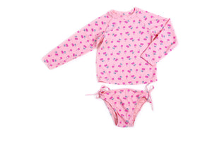 ee3740d5497 Egg By Susan Lazar - Kaitlyn Two Piece Swimsuit - Pink with Cherries