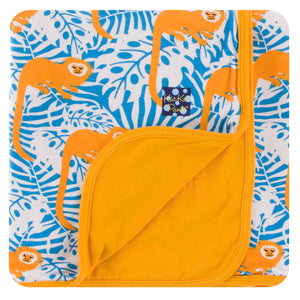 Kickee Pants - Spring 3 2018 - Toddler Blanket - Tamarin Monkey