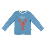 Kickee Pants - Oceanography Collection - Easy Fit Crew Neck Tee - Blue Moon Lobster