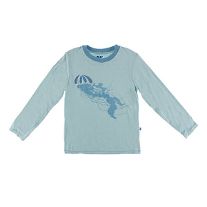 Kickee Pants - Oceanography Collection - Easy Fit Crew Neck Tee - Jade Jellyfish