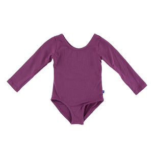 Kickee Pants - Paleontology Collection - Long Sleeve Performance Jersey Leotard – Amethyst
