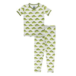 Kickee Pants - Botany - Pajama Set - Natural Caterpillars