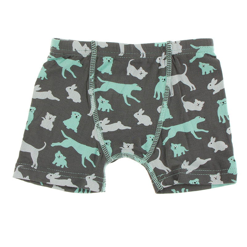 Kickee Pants - Zoology - Single Boxer Brief - Stone Domestic Animals