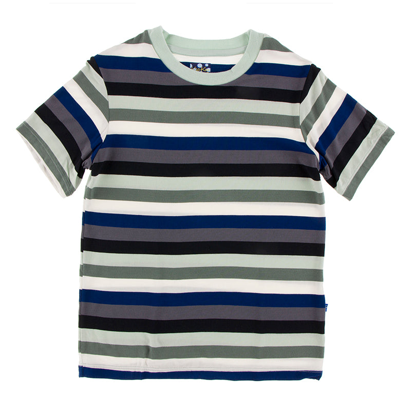Kickee Pants - Zoology - Easy Fit Crew Neck Tee  – Zoology Stripe