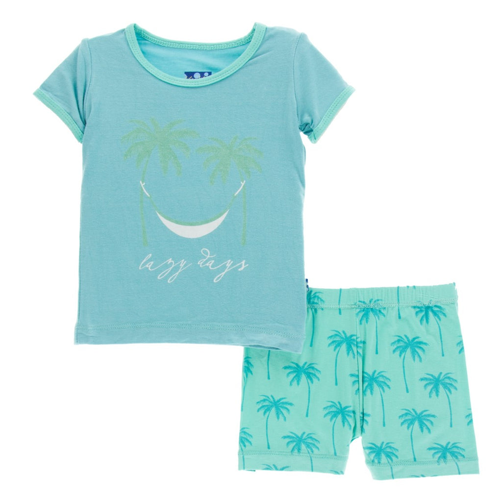 Kickee Pants - Cancun Collection - Pajama Set with Shorts – Glass Palm Trees