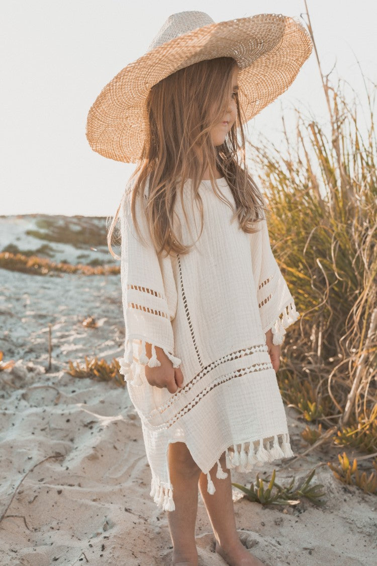 Rylee + Cru - Hometown Collection - Tassel Cover Up- Ivory