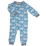 Sweet Bamboo - Piped Romper - Polar Bear