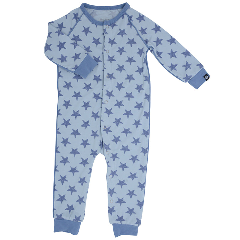Sweet Bamboo - Piped Romper - Scribble Stars