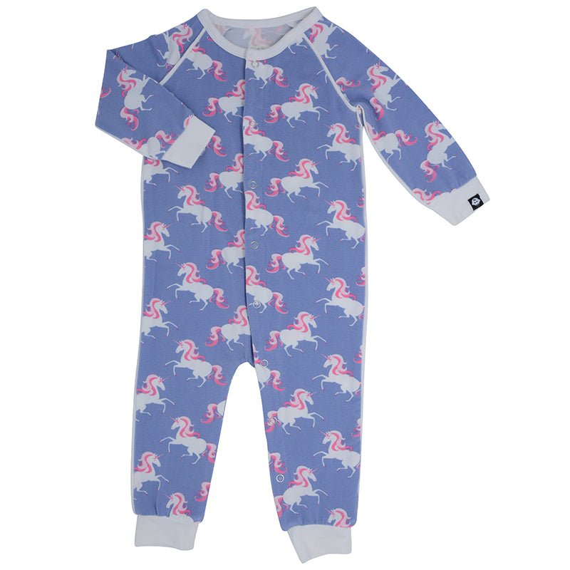 Sweet Bamboo - Piped Romper - Unicorns