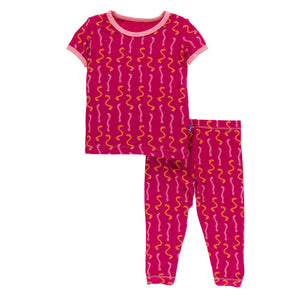 Kickee Pants - Cancun Collection - Pajama Set - Rhododendron Worms