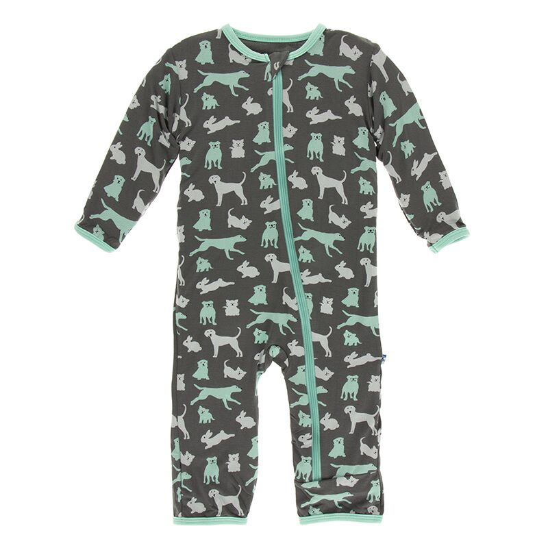 Kickee Pants - Zoology - Coverall with Zipper – Stone Domestic Animals