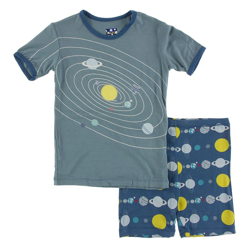 Kickee Pants - Astronomy and Chemistry- Pajama Set with Shorts – Twilight Planets