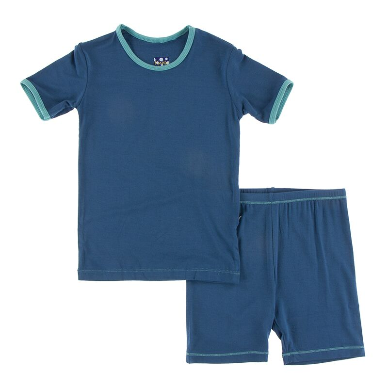 Kickee Pants - Astronomy and Chemistry- Pajama Set with Shorts – Twilight with Neptune