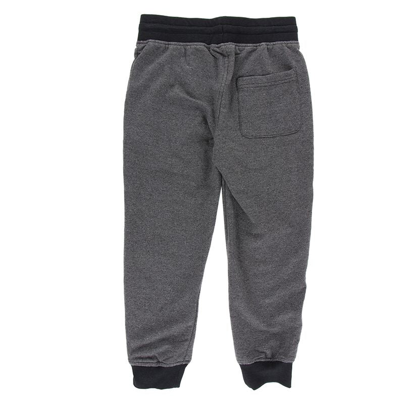 Kickee Pants - Botany Collection - Tailored Fit Fleece Tapered Sweatpants - Heathered Zebra