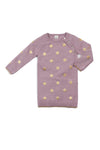 Egg By Susan Lazar Girls Emily Dress -  Purple with Gold Stars