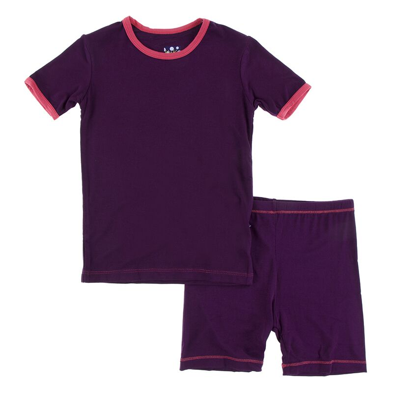 Kickee Pants - Astronomy and Chemistry- Pajama Set with Shorts – Wine Grapes with Red Ginger