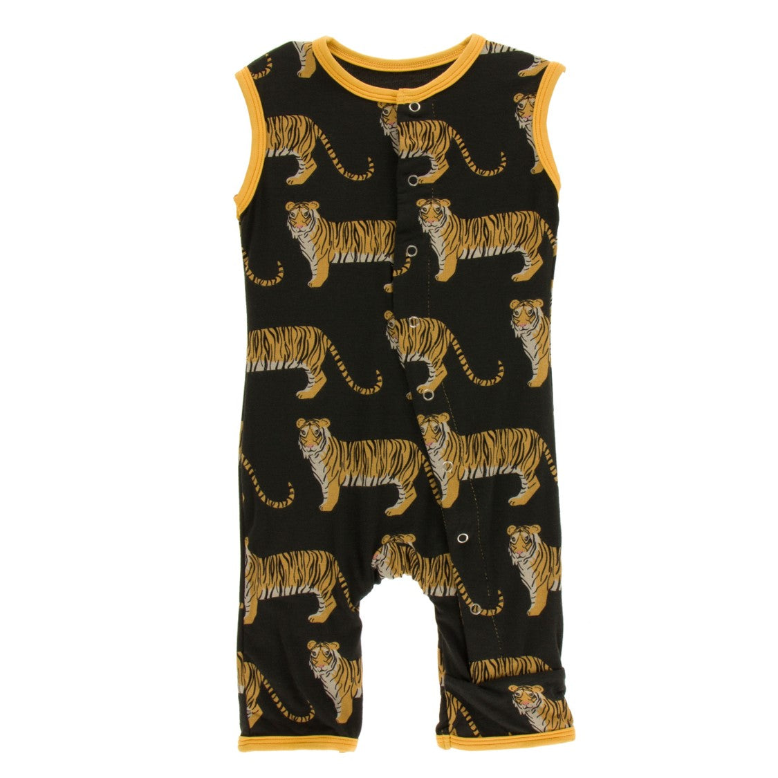 Kickee Pants - India Collection - Tank Romper –  Zebra Tiger