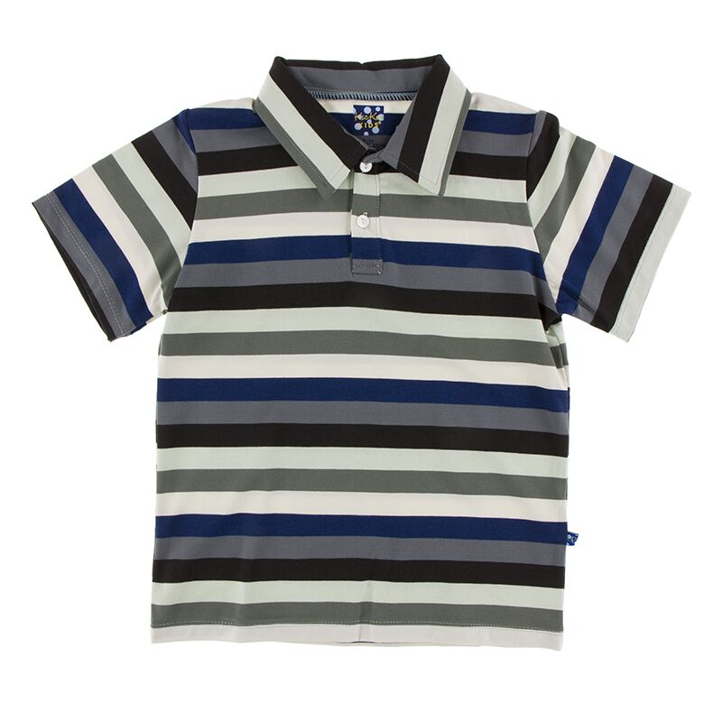 Kickee Pants - Zoology - Short Sleeve Performance Polo – Zoology Stripe