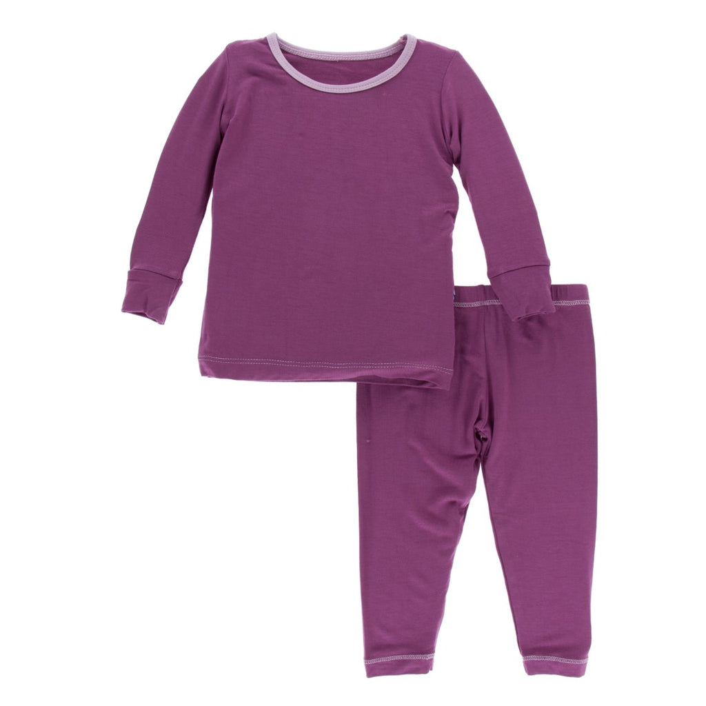 Kickee Pants - Paleontology Collection - Pajama Set - Amethyst with Sweet Pea