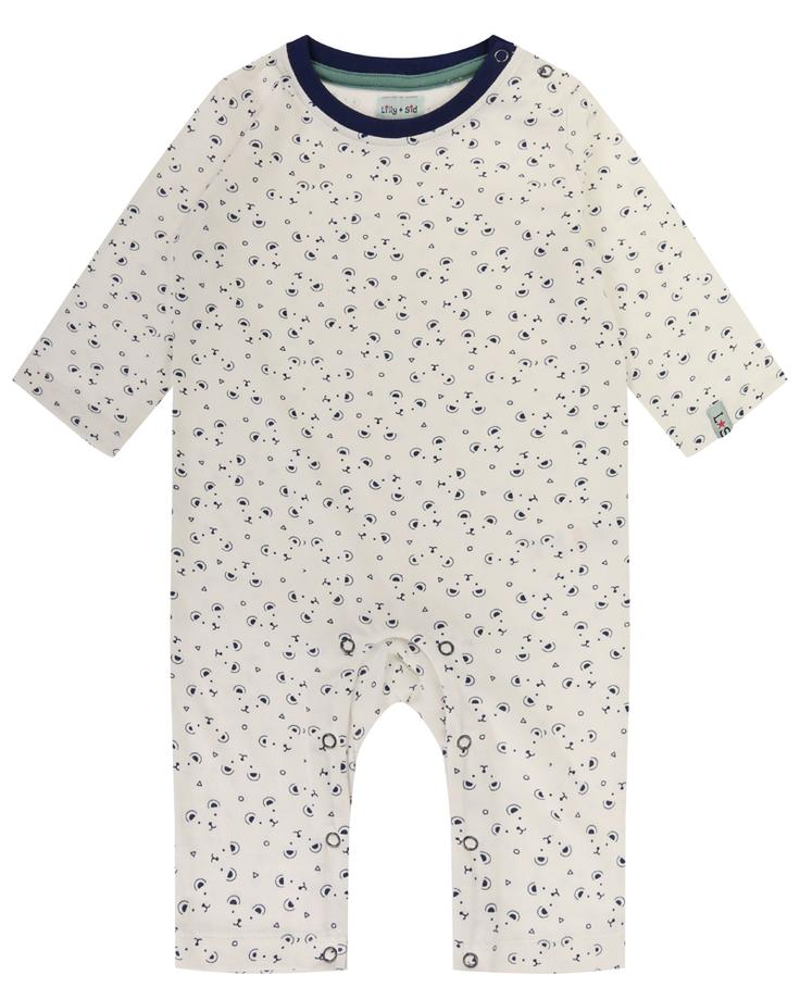 Lilly + Sid Bear Print Sleepsuit