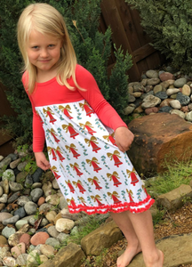 Kozi & Co - Holiday Collection - Winter Dress - Bells & Mistletoe