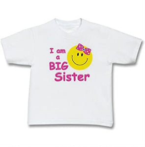 I Am A Big Sister Smiley Children's T-Shirt