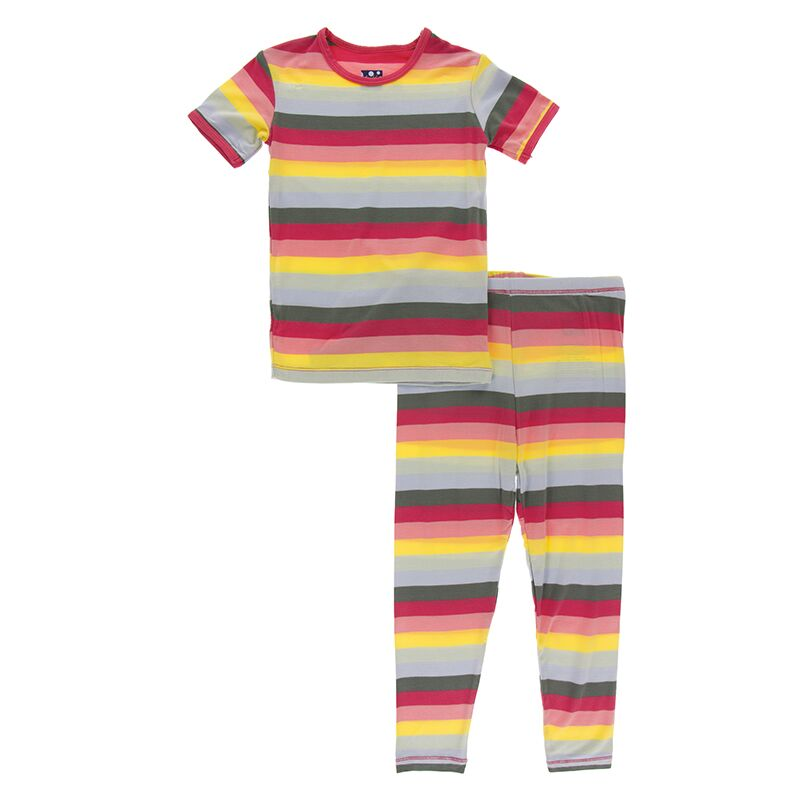 Kickee Pants - Zoology - Pajama Set - Biology Stripe