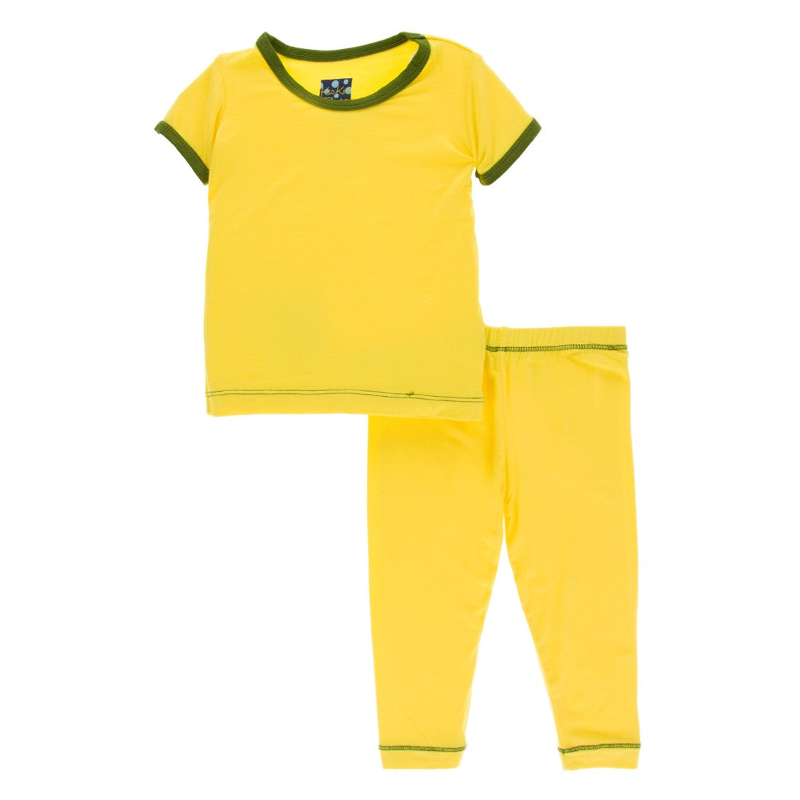 Kickee Pants - Spring 1 2019 - Pajama Set - Lemon Blossom with Pesto