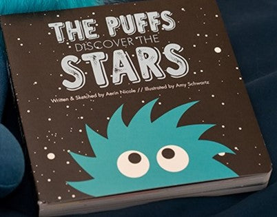 Kickee Pants - Astronomy & Chemistry  - Book - The Puffs Discover The Stars