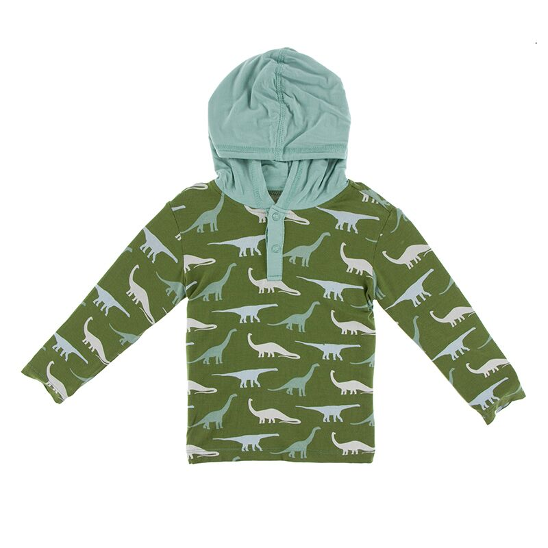Kickee Pants - Paleontology Collection - Hoodie Tee – Moss Sauropods
