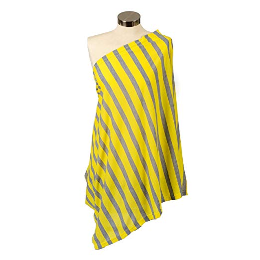 Itzy Ritzy Nursing Happens - Canary Stripe
