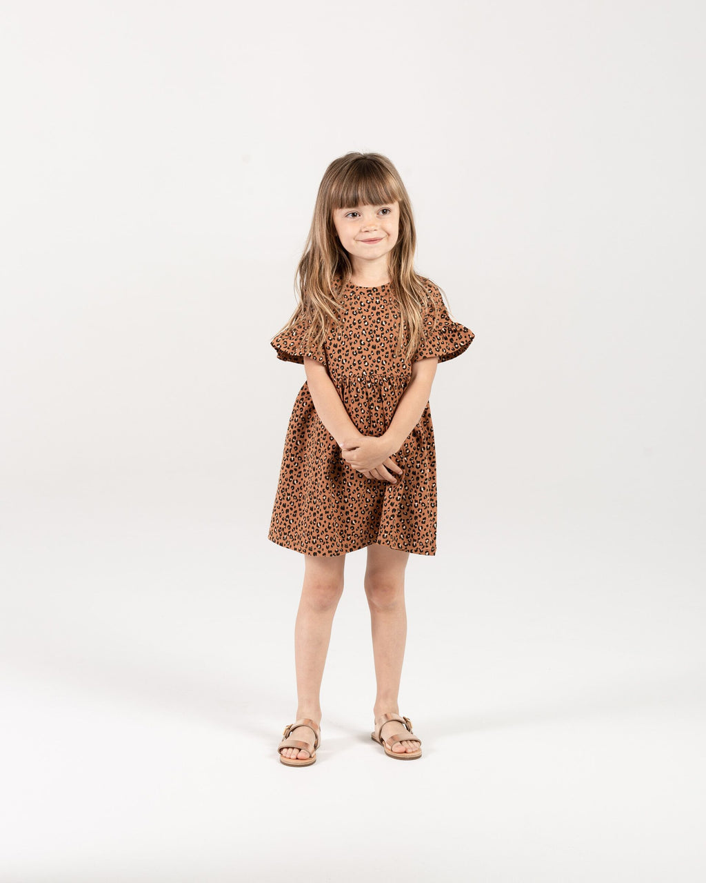 Rylee + Cru - Hometown Collection - Cheetah Babydoll Dress