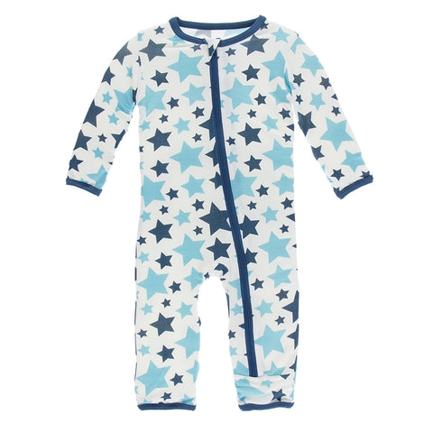 Kickee Pants - Spring 1 2018 - Coverall with Zipper – Confetti Star