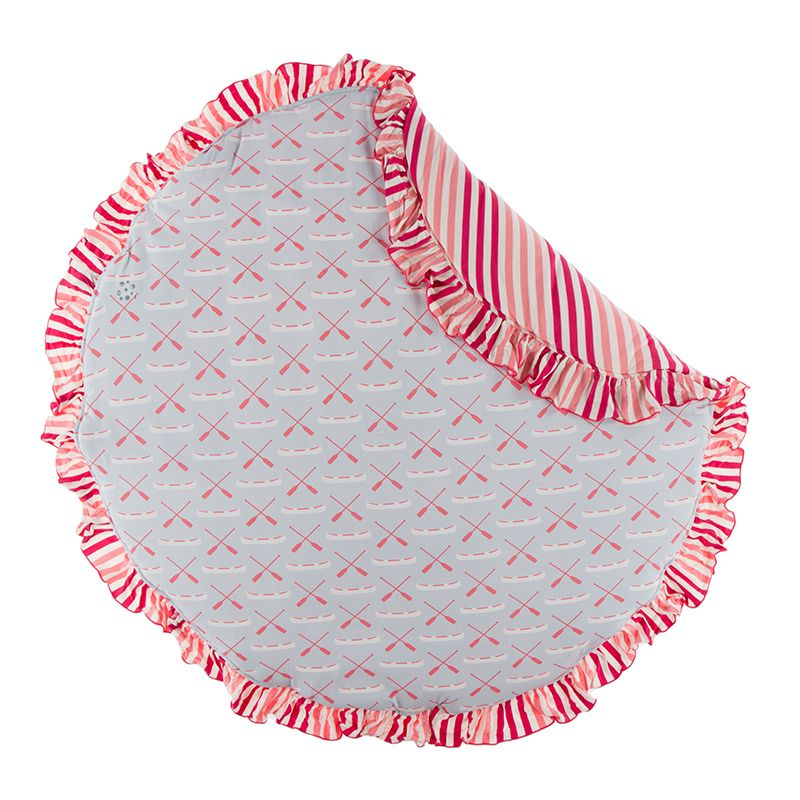Kickee Pants - Fish & Wildlife Collection - Ruffle Fluffle Padded Playmat -Dew Paddles and Canoe