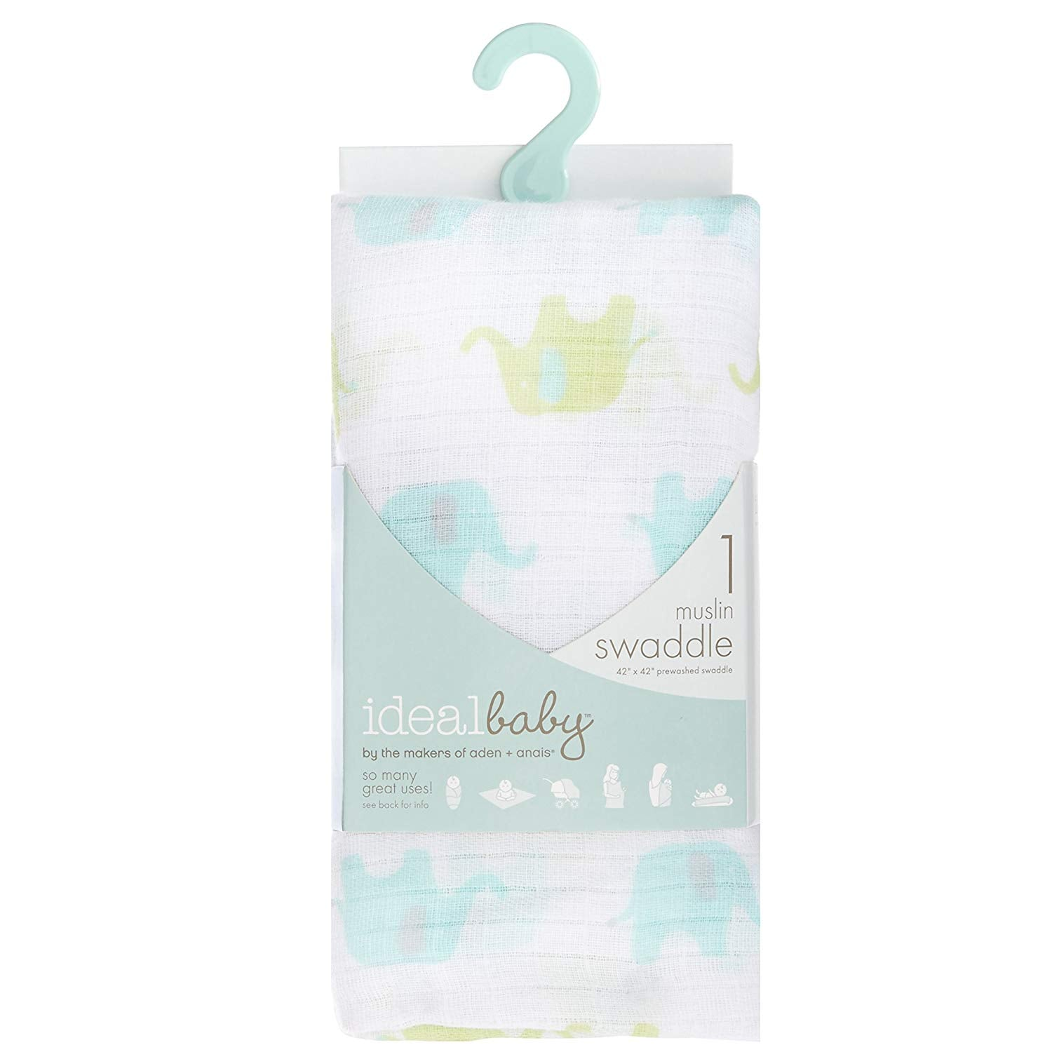Aiden + Anais - Single Swaddle - Dreamy Elephants
