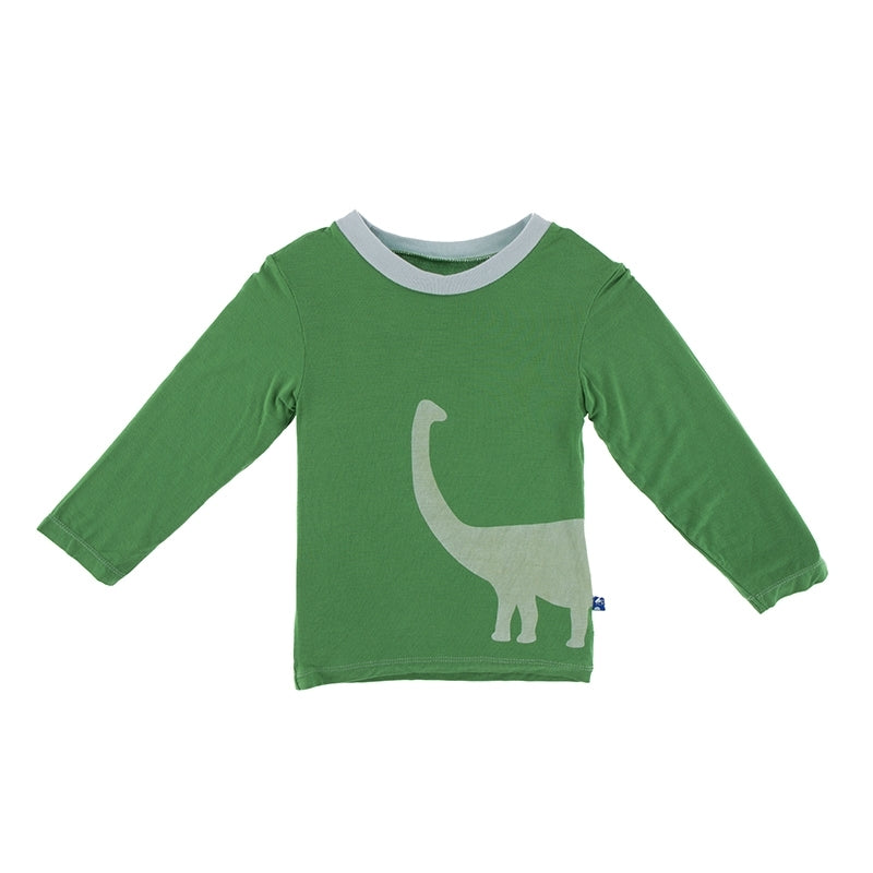 Kickee Pants - Paleontology Collection - Easy Fit Crew Neck Tee – Fern Sauropod