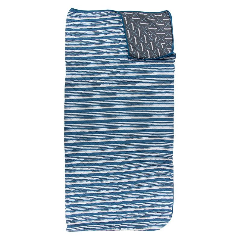 Kickee Pants - Fish & Wildlife Collection - Quilted Sleepover Bag - Fishing Stripe / Stone Paddles and Canoe