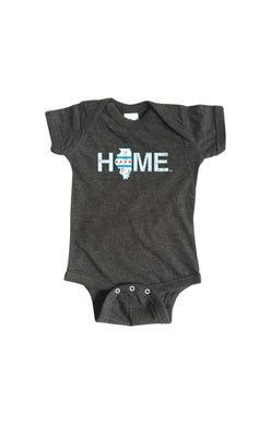 Illinois Home Onesie - Chicago Flag