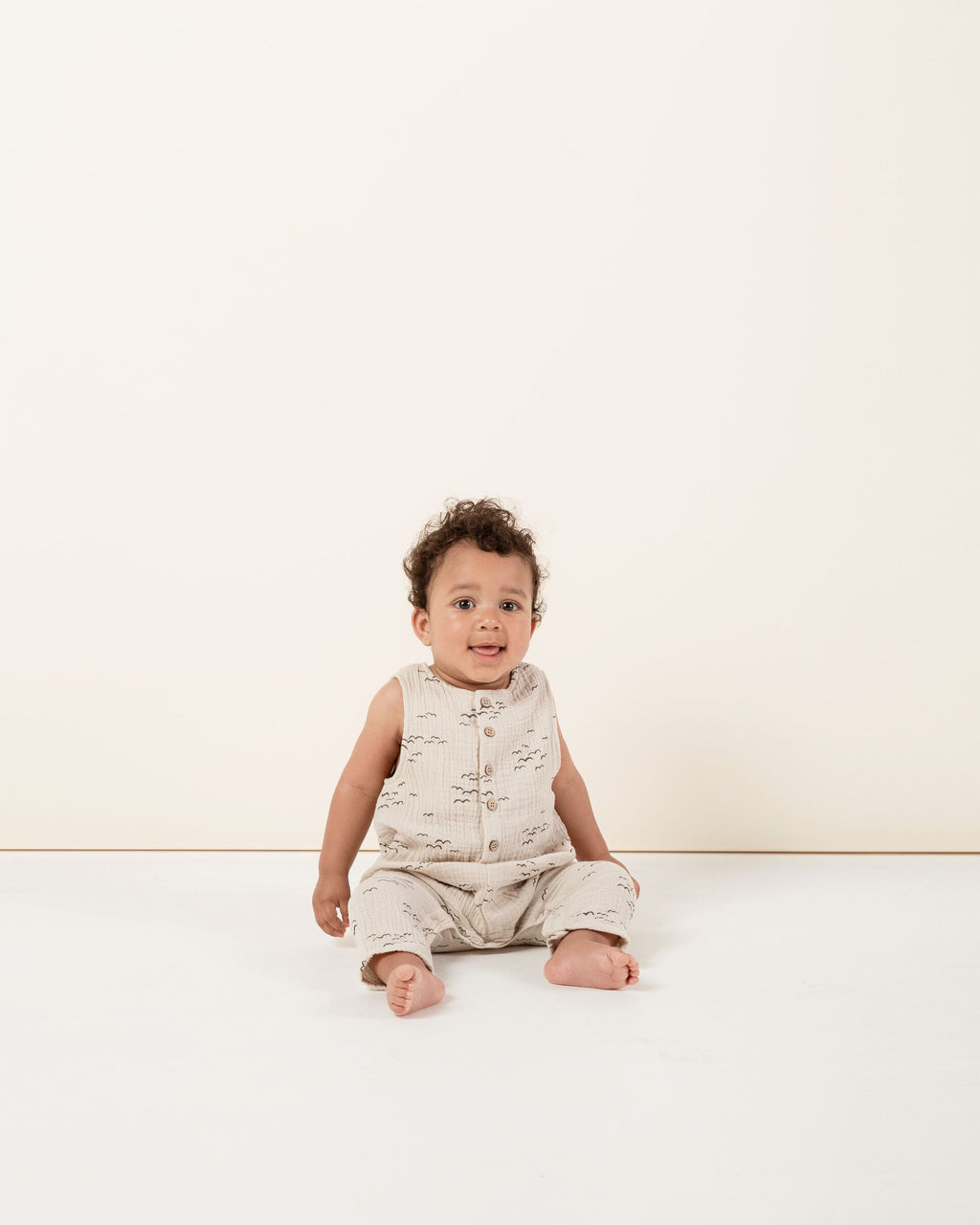 Rylee + Cru - Hometown Collection - Flock Button Jumpsuit
