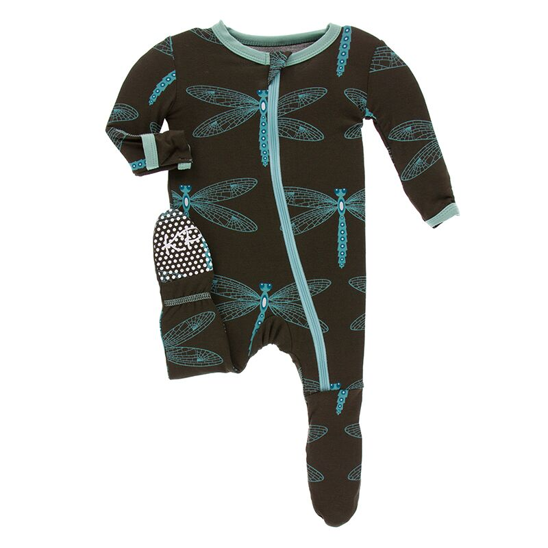 Kickee Pants - Paleontology Collection - Footie with Zipper –  Giant Dragonfly