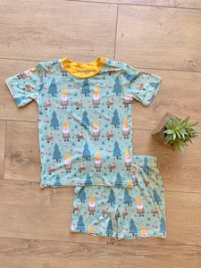 Kozi & Co - Spring 2020 Collection - Short Pajama Set - Garden Gnome