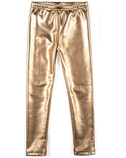 Appaman - Girls Metallic Leggings - Gold