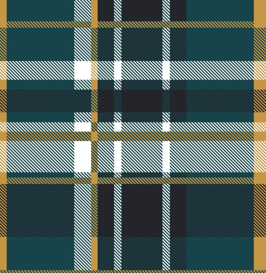 Kozi & Co - Holiday Collection - Stroller Blanket - Hunter & Gold Plaid