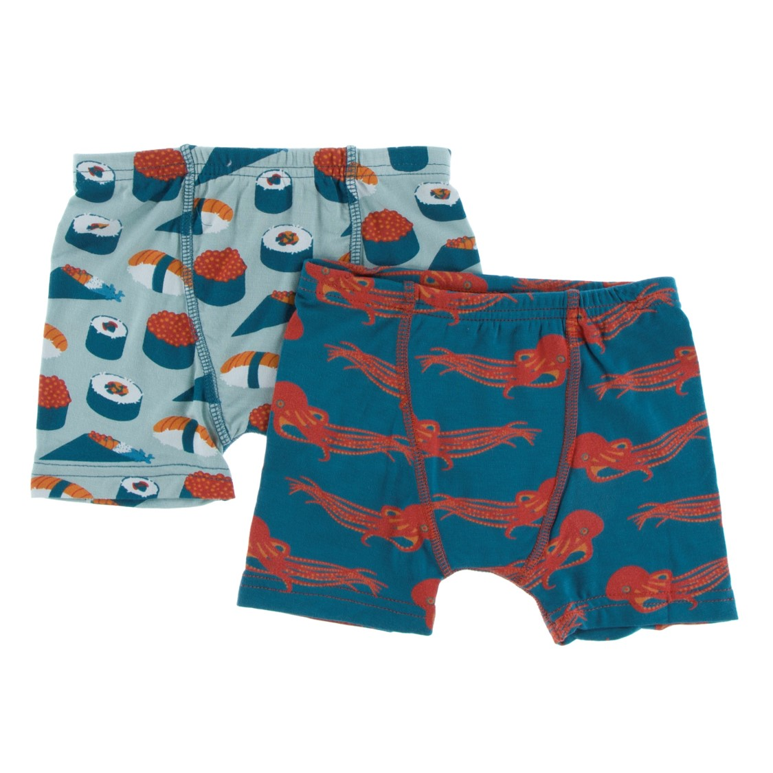 Kickee Pants - Fall 3 2018  - Boxer Brief Set - Jade Sushi & Oasis Octopus