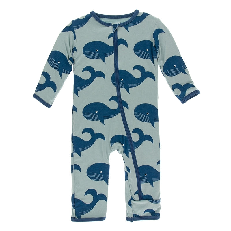 Kickee Pants - Oceanography Collection - Coverall with Zipper – Jade Whales